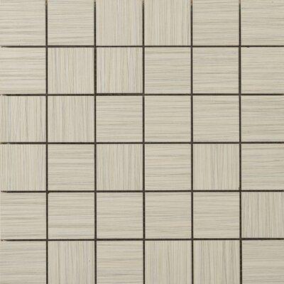 Strands 2 x 2/12 x 12 Porcelain Mosaic Tile in Oyster