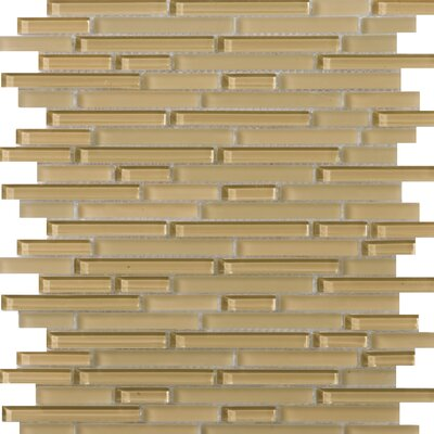 Lucente 12 x 13 Glass Linear Mosaic Tile in Honey
