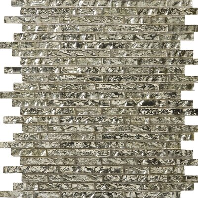 Vista 12 x 13 Glass Linear Mosaic Tile in Balbi