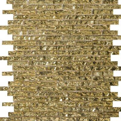 Vista 12 x 13 Glass Linear Mosaic Tile in Ghisetti
