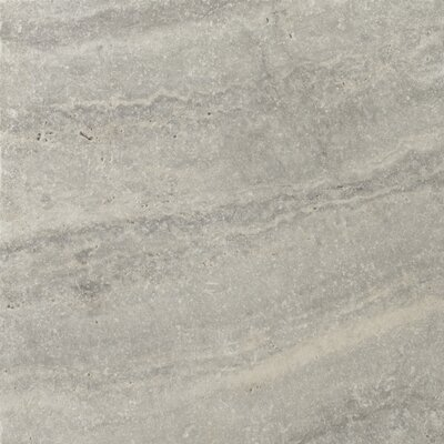 Travertine 16 x 16 Field Tile in Ancient Tumbled Silver