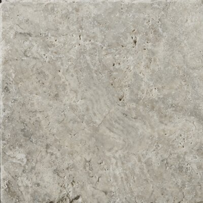 Travertine 8 x 8 Field Tile in Ancient Tumbled Silver