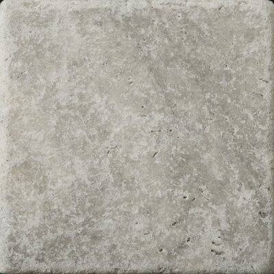 Travertine 6 x 6 Tile in Ancient Tumbled Silver