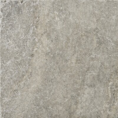 Travertine 12 x 12 Field Tile in Ancient Tumbled Silver