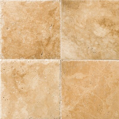 Travertine 16 x 16 Field Tile in Chiseled Umbia Savera