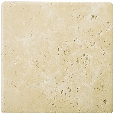 Travertine 16 x 16 Field Tile in Ancient Tumbled Beige