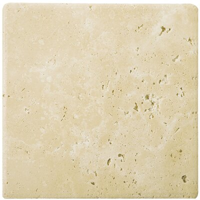 Travertine 4 x 4 Tile in Ancient Tumbled Beige