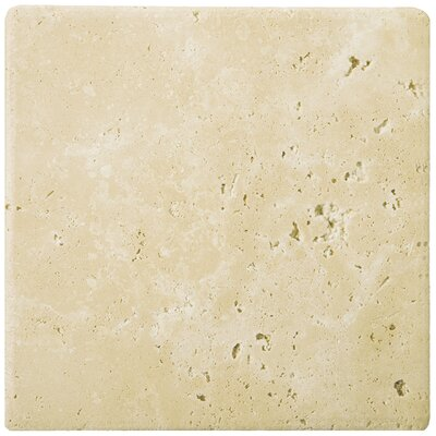 Travertine 12 x 12 Field Tile in Ancient Tumbled Beige