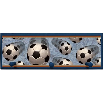 Soccer in Motion Wall Plaque with Wooden Pegs PLK-1251-NA