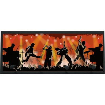 Rock Show Wall Plaque with Wooden Pegs PLK-1262-BK
