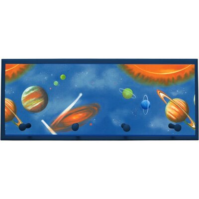 Solar System Wall Plaque with Wooden Pegs PLK-1104-NA