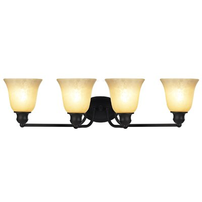 Gauss Transitional 4-Light Vanity Light