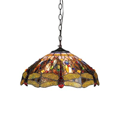 Dragonfly 3-Light Dragon Ceiling Bowl Pendant