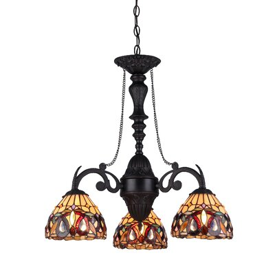 Allred 3-Light Shaded Chandelier