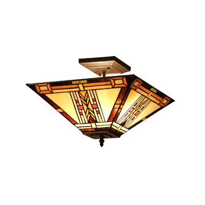 Fournier 2-Light Semi-Flush Mount