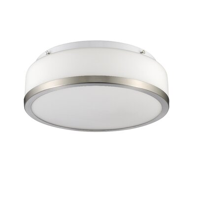 Straw 2-Light Flush Mount