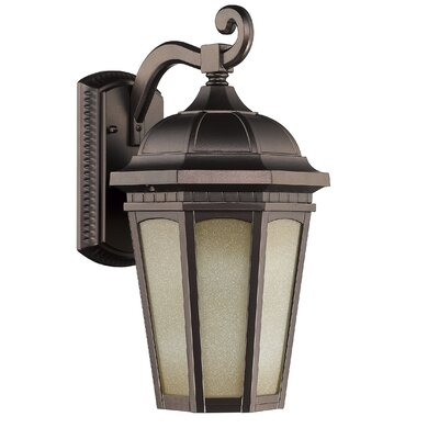 Telsa 1-Light Outdoor Wall Lantern Size: 16.5 H x 8 W x 9.5 D