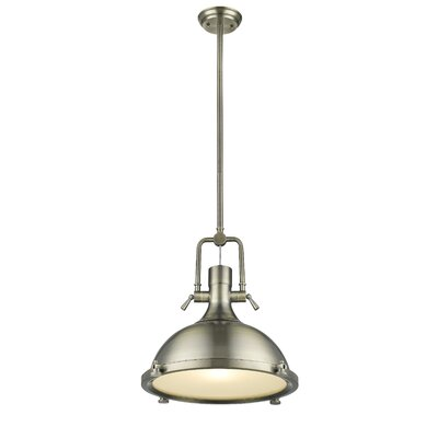 Nolan Antique Brass 1-Light Mini Pendant