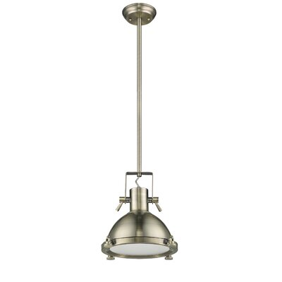 Nolan 1-Light Frosted Glass Mini Pendant