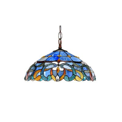 Suvi Blue 2-Light Bowl Pendant