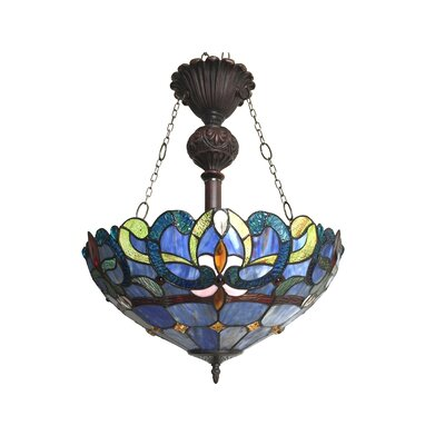 Suvi 2-Light Glass Bowl Pendant
