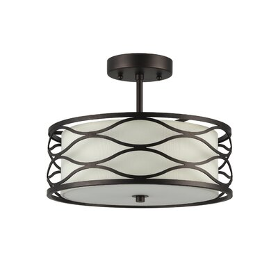 Cherrywood 2-Light Semi Flush Mount
