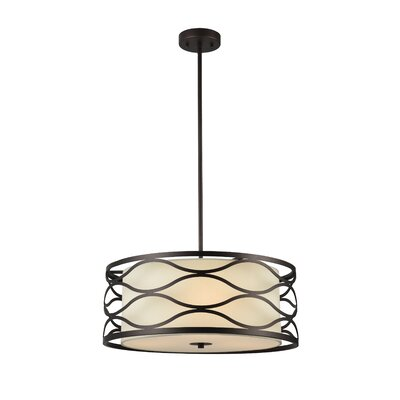 Cherrywood 3-Light Semi Flush Mount Size: 73.5 H x 20 W x 20 D