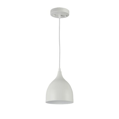 Russo 1-Light Mini Pendant Finish: Matte White