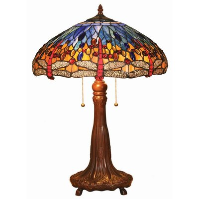 Chloe Lighting Tiffany Style Dragonfly Table Lamp with Blue Shade at Sears.com