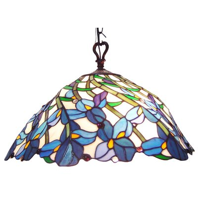 Chloe Lighting Tiffany 2-Light Pool Table Light