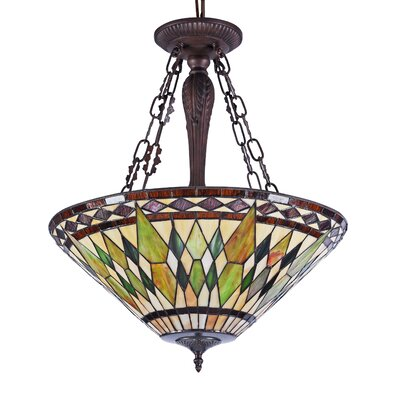 Phillipe 3-Light Bowl Pendant