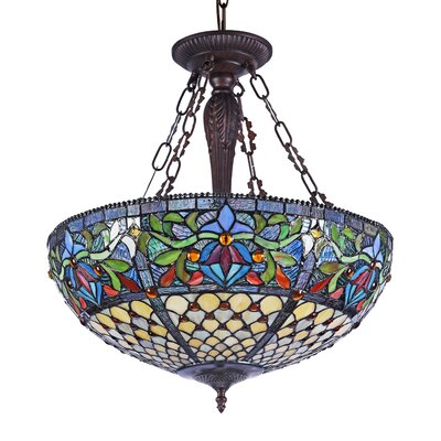 Dulcinea 3-Light Bowl Pendant