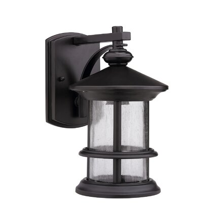 Ashley Superiora 1-Light Outdoor Wall Lantern Finish: Rubbed Bronze