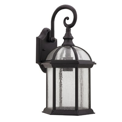 Havana Divine 1-Light Outdoor Wall Lantern Finish: Rubbed Bronze