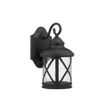 Milania Adora 1-Light Outdoor Wall Lantern Finish: Black
