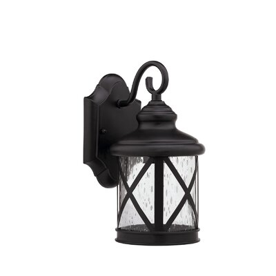 Milania Adora 1-Light Outdoor Wall Lantern Finish: Oil Rubbed Bronze