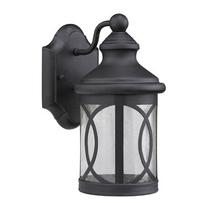 Romania Allura 1-Light Outdoor Wall Lantern Finish: Black