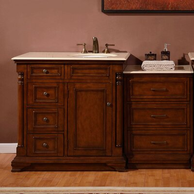 57.5 Single Sink Cabinet Bathroom Vanity Set