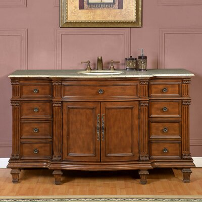 "60"" Single Sink Cabinet Bathroom Vanity Set"