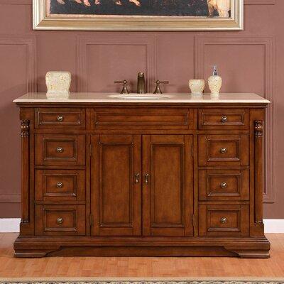 58 Single Sink Cabinet Bathroom Vanity Set