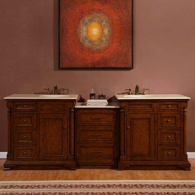 92.5 Double Lavatory Sink Cabinet Bathroom Vanity Set