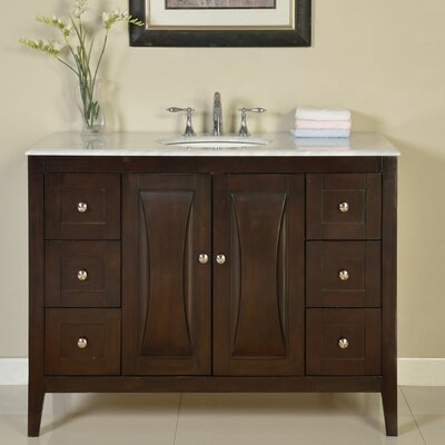48 Single Sink Cabinet Bathroom Vanity Set