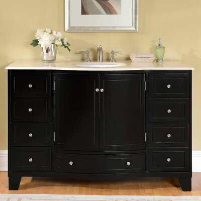 55 Single Sink Cabinet Bathroom Vanity Set