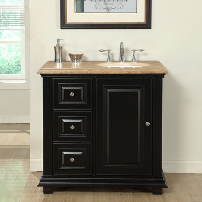 36 Single Bathroom Vanity Set with Sink on Right Side