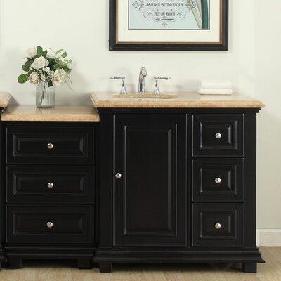 56 Single Bathroom Modular Vanity Set with Sink on Left Side