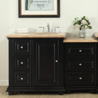 56 Single Bathroom Modular Vanity Set with Sink of Right