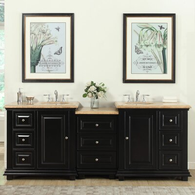 90.5 Double Sink Bathroom Modular Vanity Set