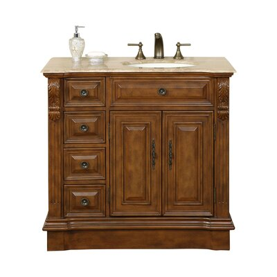 Charlotte 38 Single Bathroom Vanity Set Sink Location: Sink on the Right