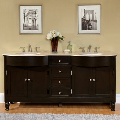 Eda 72 Double Bathroom Vanity Set