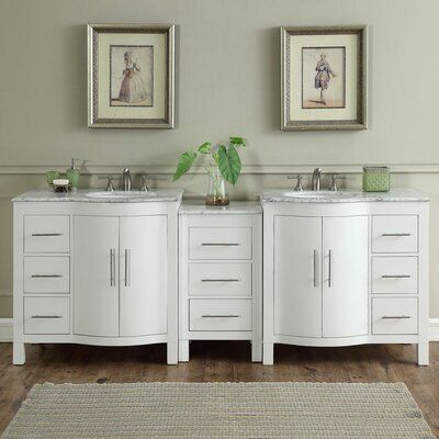 Kimberly 89 Double Bathroom Vanity Set